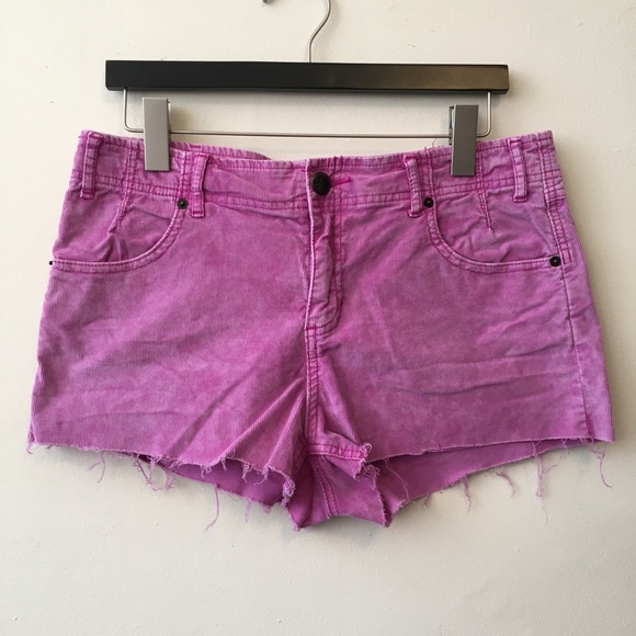 Free People Pants - Free People Size 30 Corduroy Cut Off Shorts